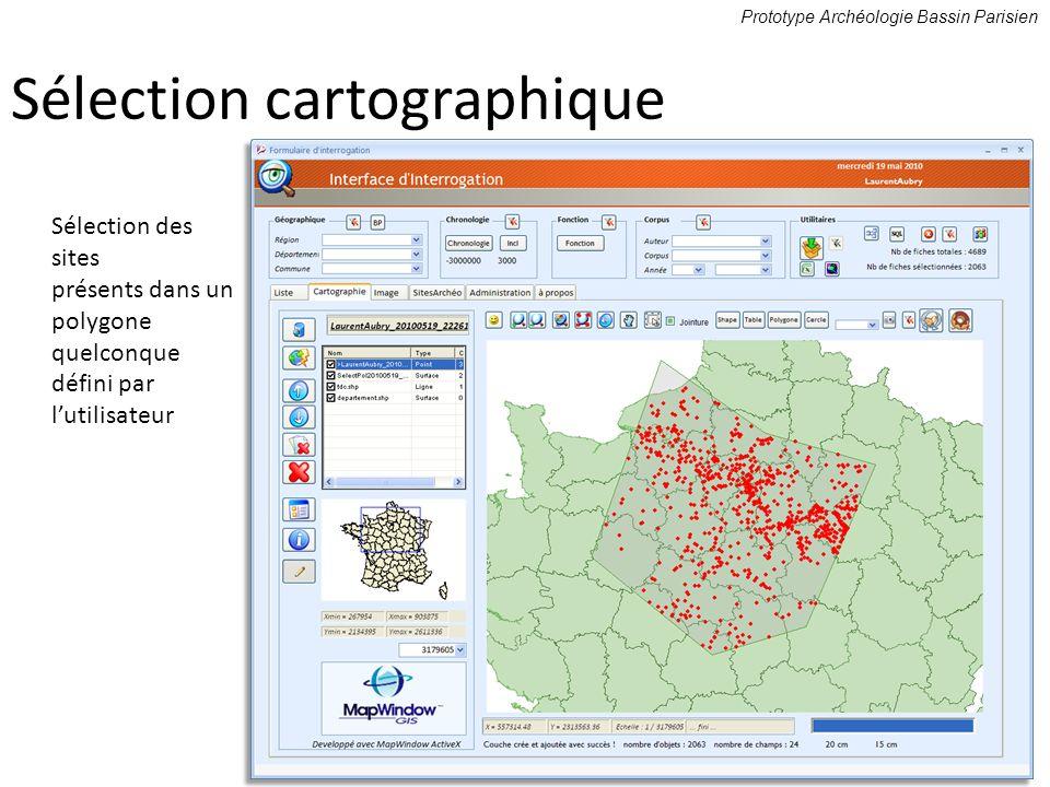 Sélection cartographique