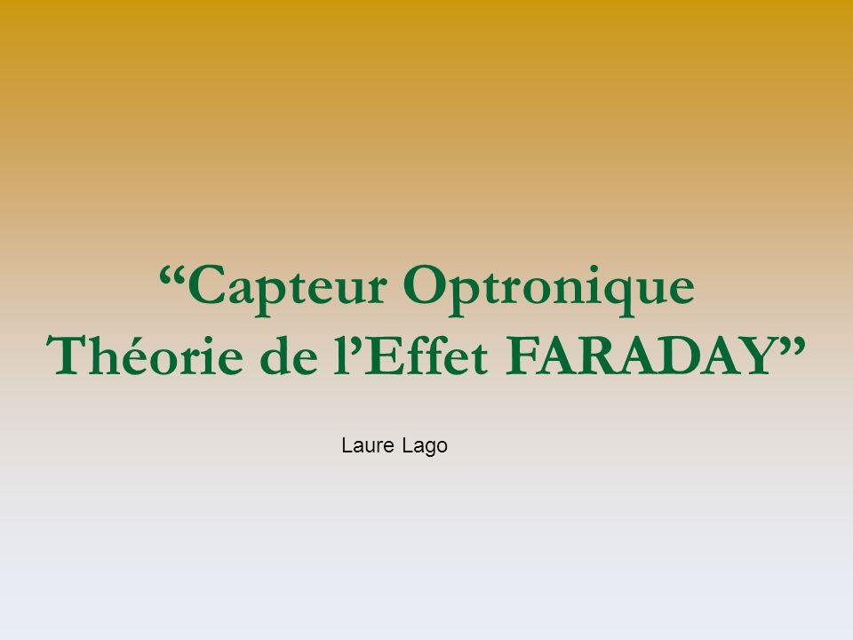 Capteur Optronique Théorie de l'Effet FARADAY