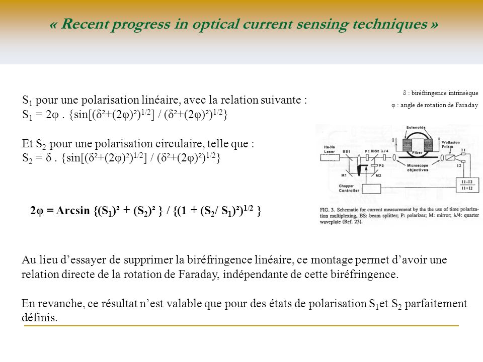 « Recent progress in optical current sensing techniques »