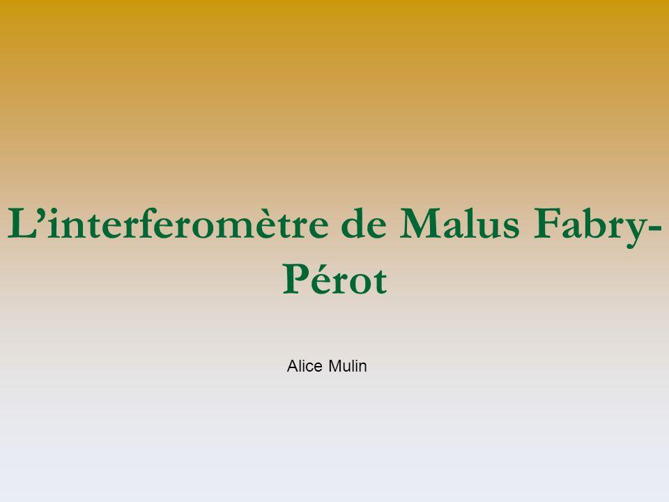 L'interferomètre de Malus Fabry-Pérot
