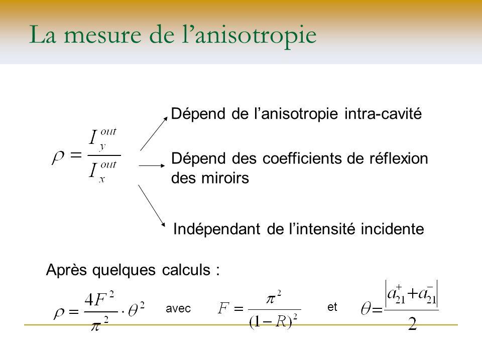 La mesure de l'anisotropie