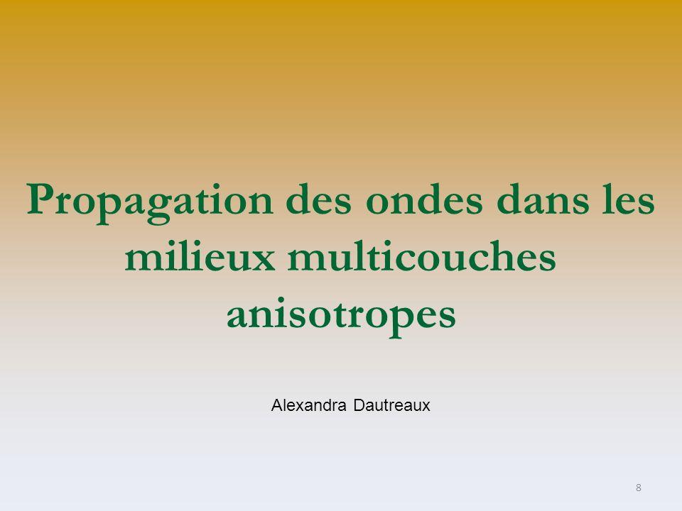 Propagation des ondes dans les milieux multicouches anisotropes