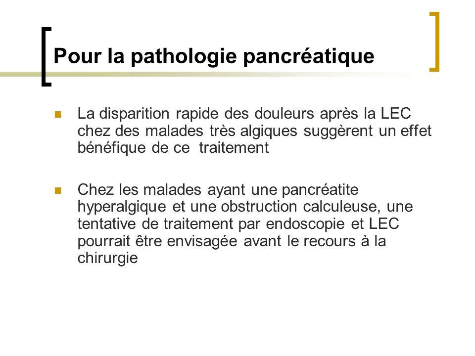 Pour la pathologie pancréatique