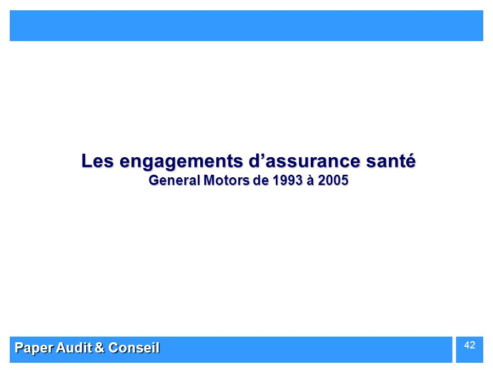 Les engagements d'assurance santé General Motors de 1993 à 2005