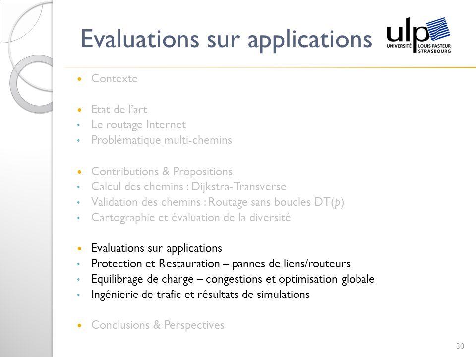 Evaluations sur applications