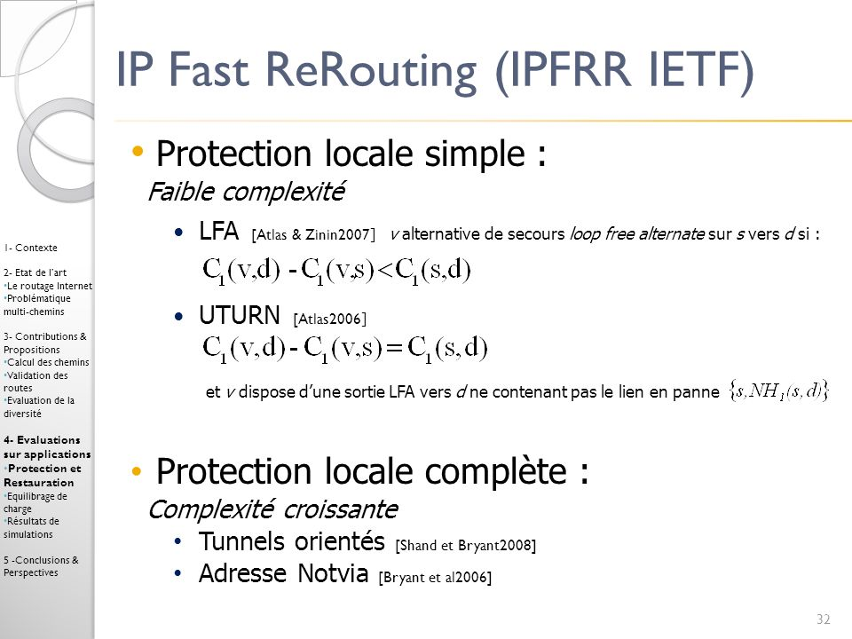 IP Fast ReRouting (IPFRR IETF)