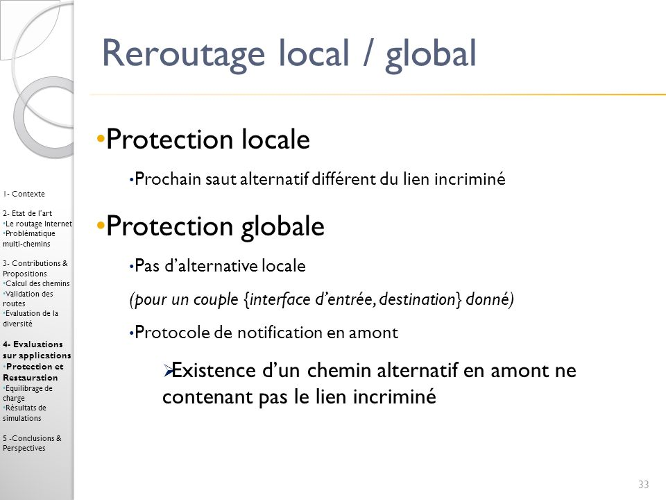 Reroutage local / global