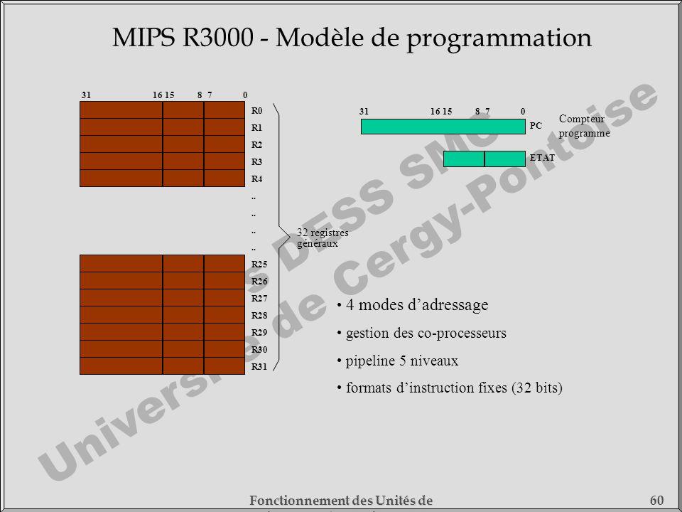 MIPS R3000 - Modèle de programmation