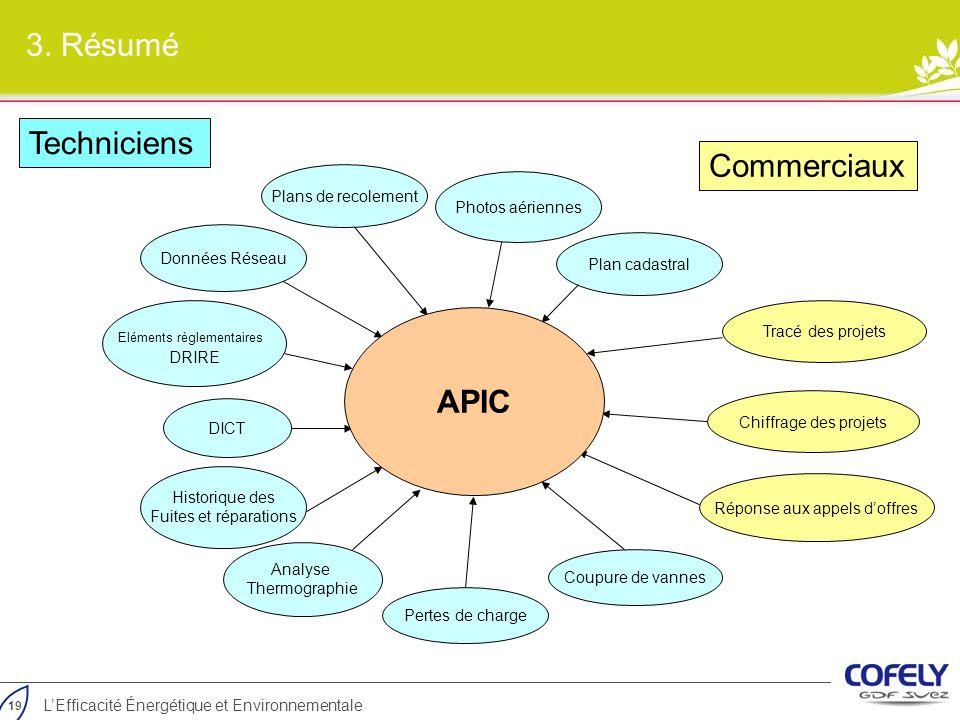 3. Résumé Techniciens Commerciaux APIC Plans de recolement