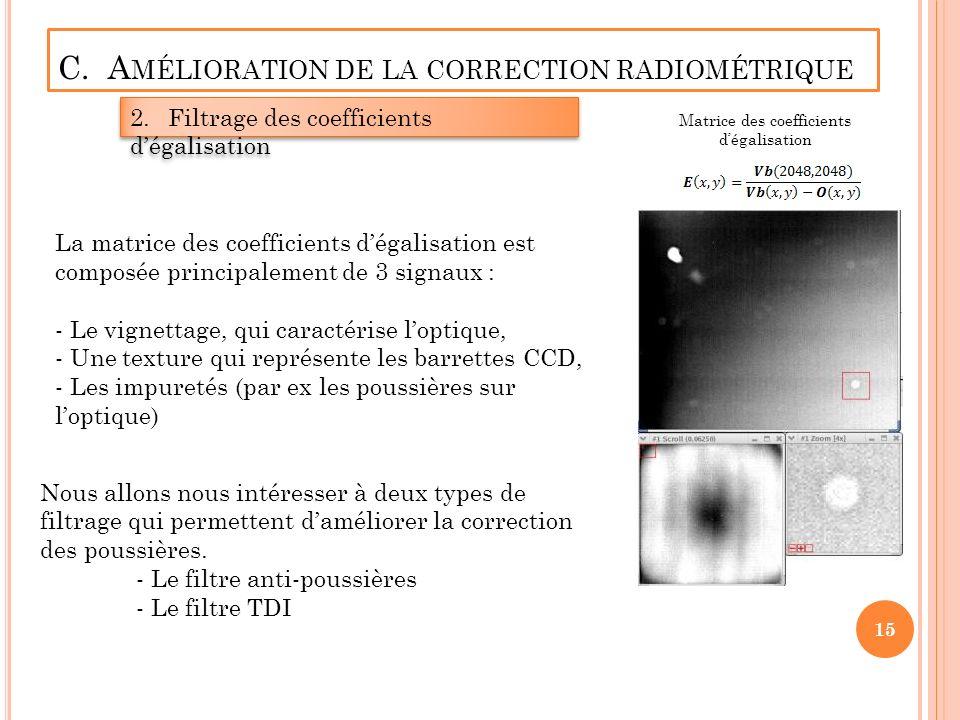 C. Amélioration de la correction radiométrique