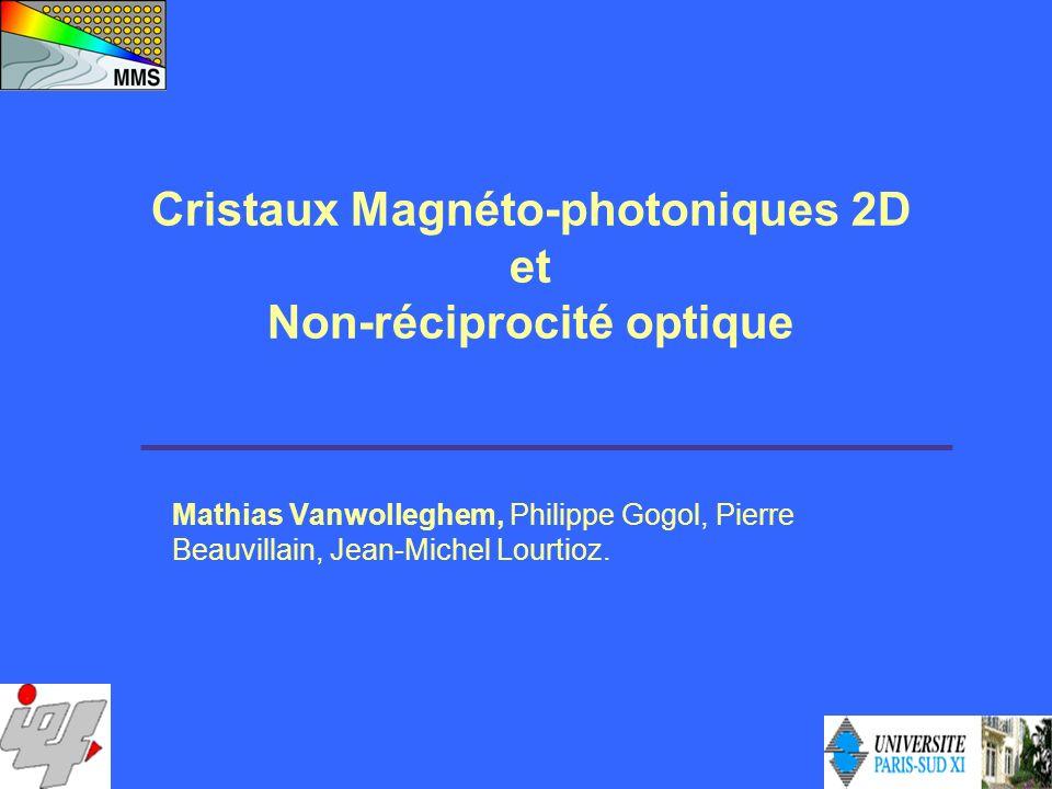 Cristaux Magnéto-photoniques 2D Non-réciprocité optique