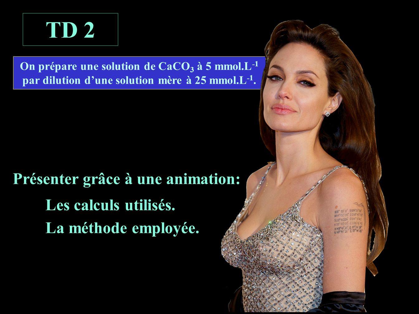 énoncé TD 2 Présenter grâce à une animation: Les calculs utilisés.