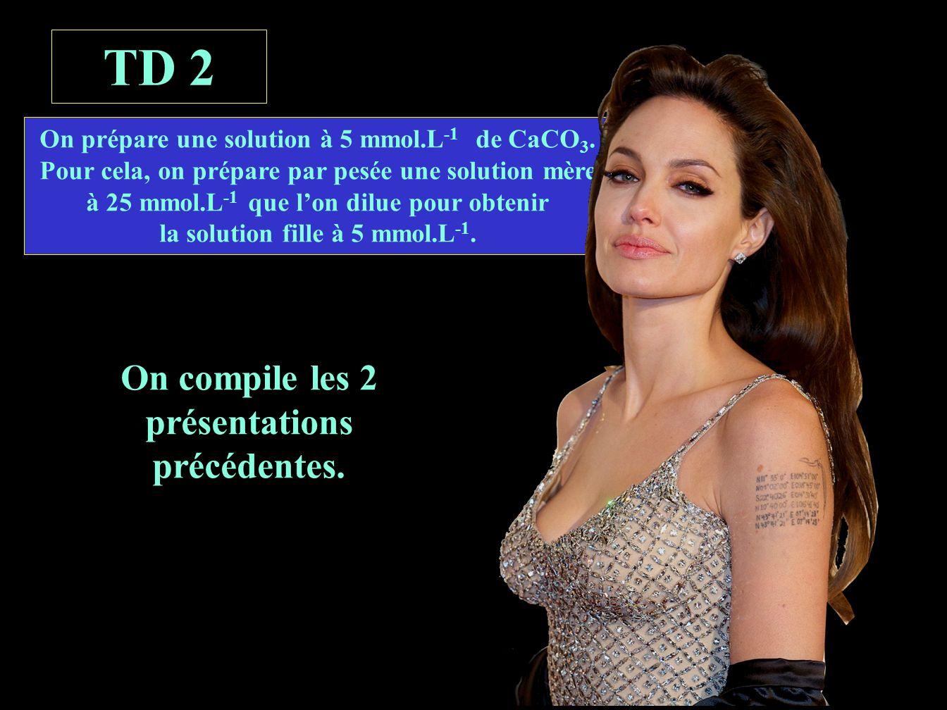énoncé TD 2 On compile les 2 présentations précédentes.