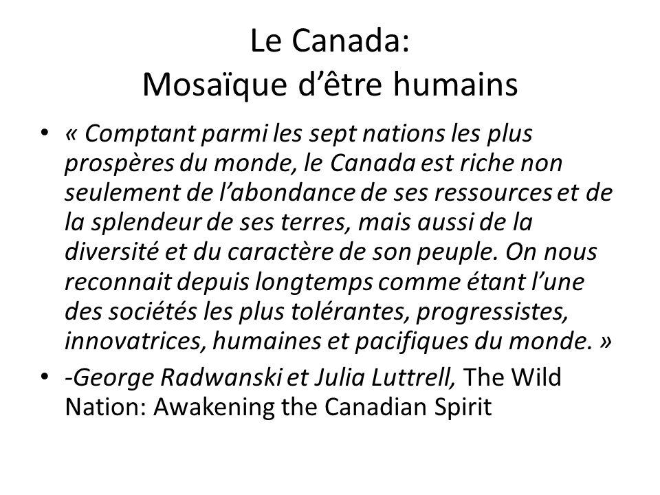 Le Canada: Mosaïque d'être humains