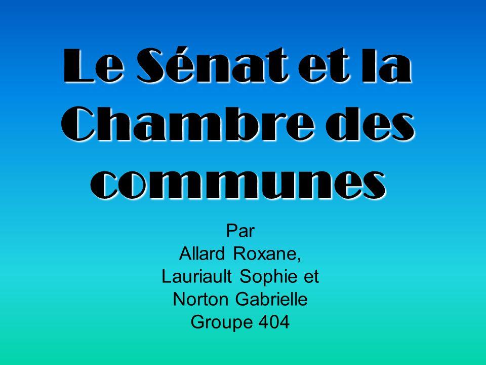 Le Sénat et la Chambre des communes