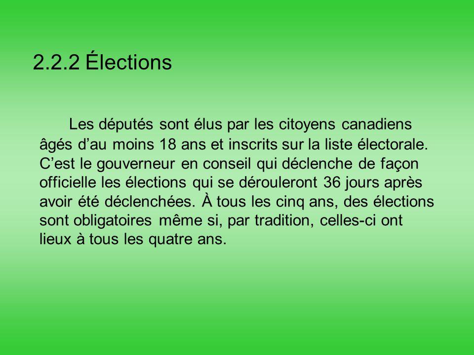 2.2.2 Élections