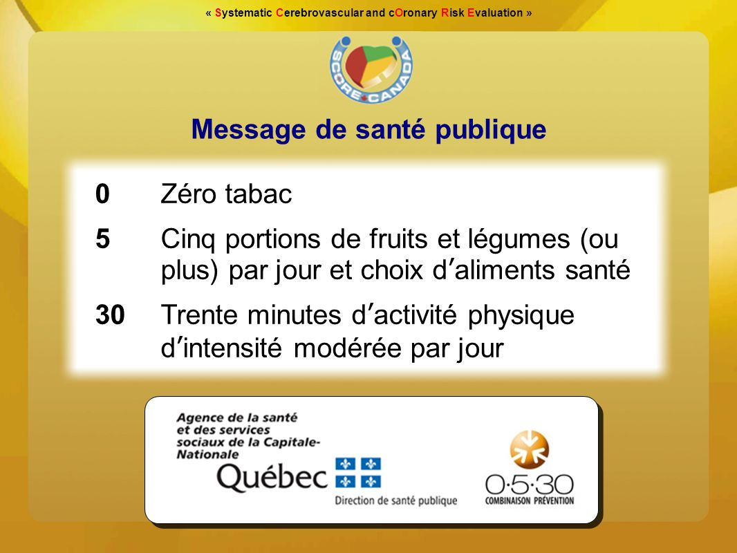 Message de santé publique