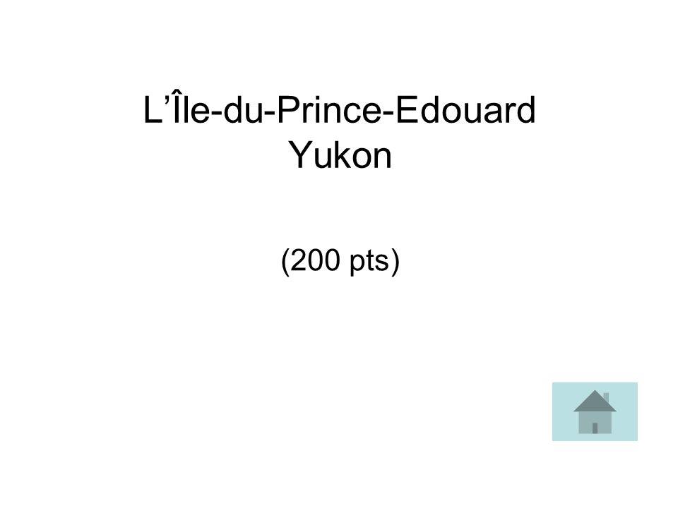 L'Île-du-Prince-Edouard Yukon