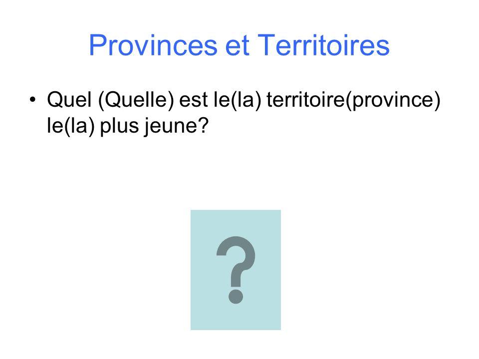 Provinces et Territoires