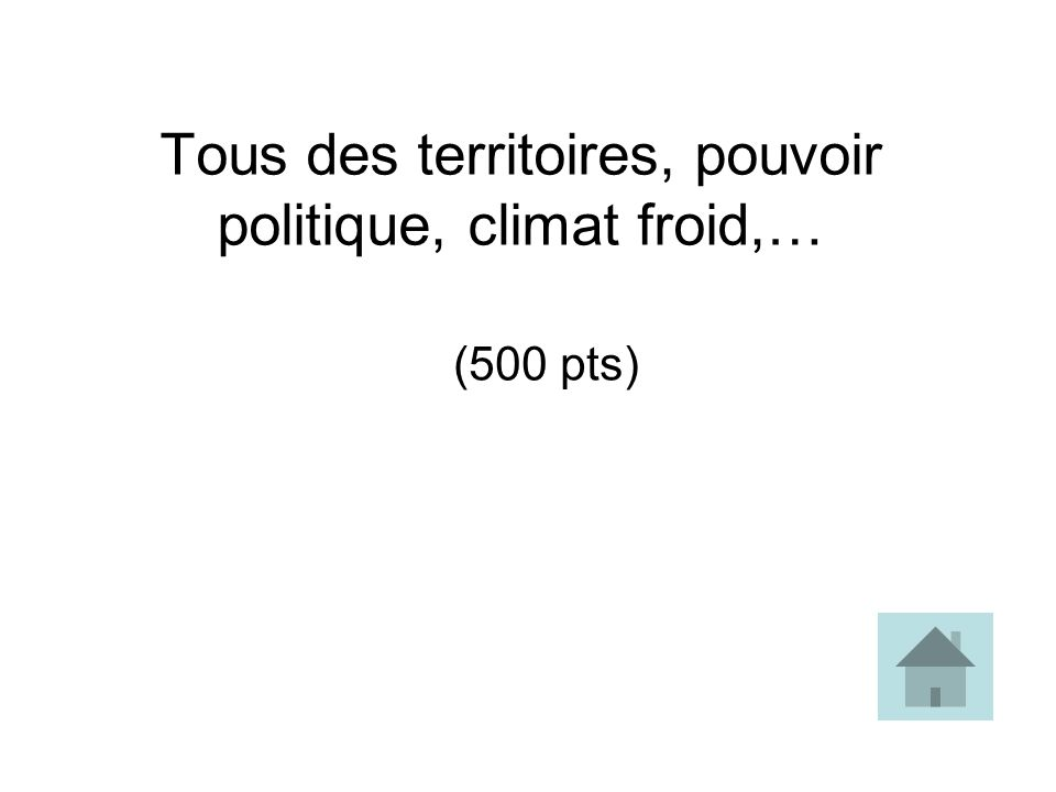 Tous des territoires, pouvoir politique, climat froid,…