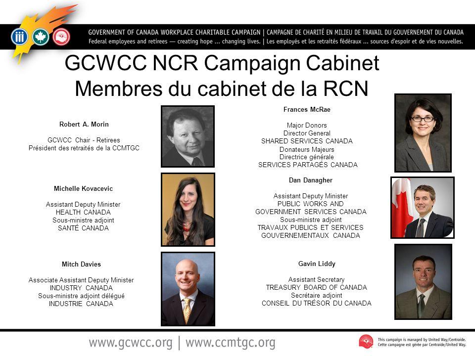 GCWCC NCR Campaign Cabinet Membres du cabinet de la RCN