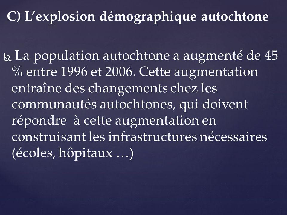 C) L'explosion démographique autochtone