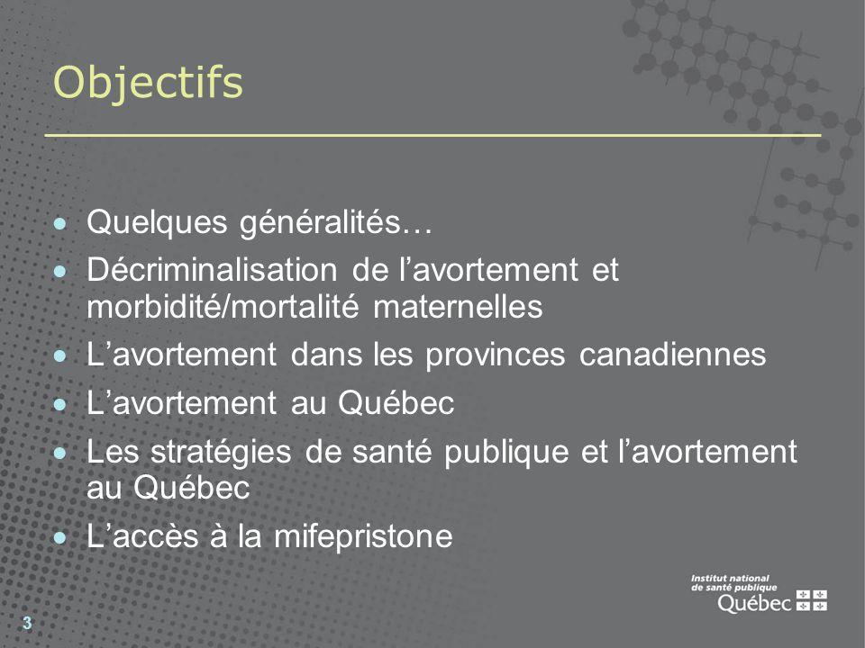 Objectifs Quelques généralités…