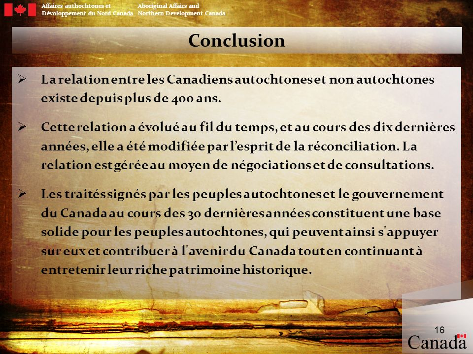 Managing Government / Aboriginal Relationship: