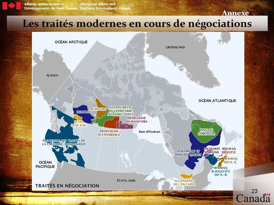 Les traités modernes en cours de négociations