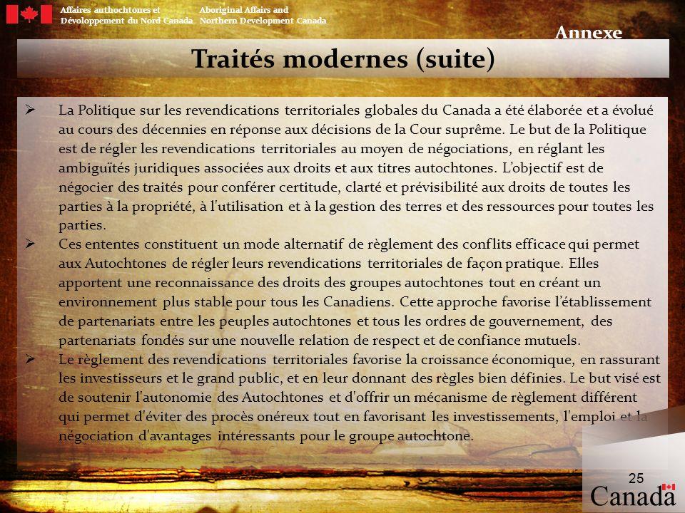 Traités modernes (suite)