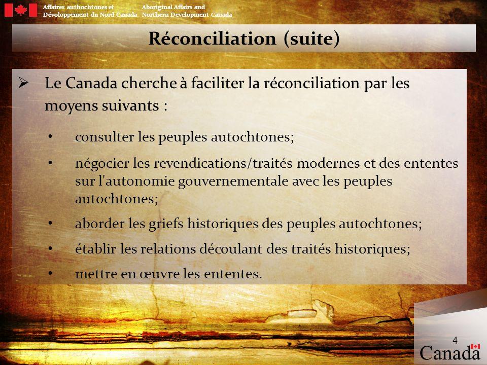 Réconciliation (suite)