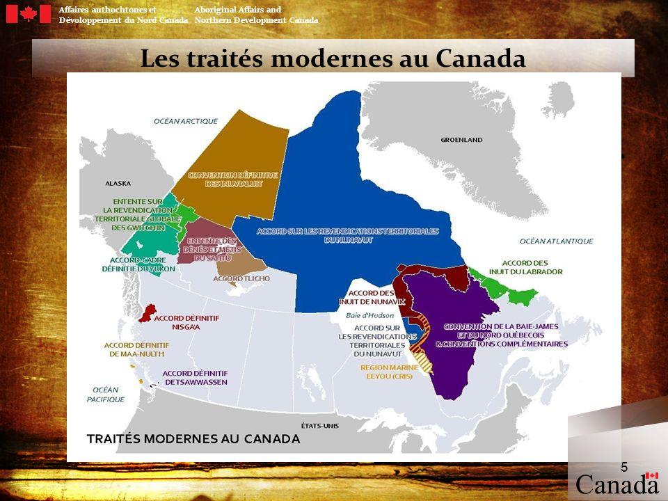 Les traités modernes au Canada
