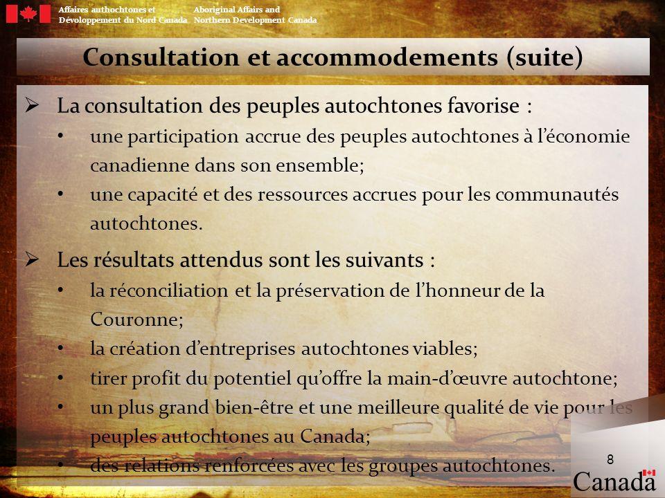 Consultation et accommodements (suite)