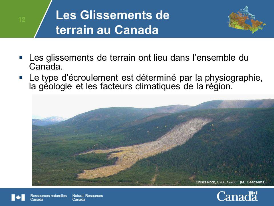 Les Glissements de terrain au Canada
