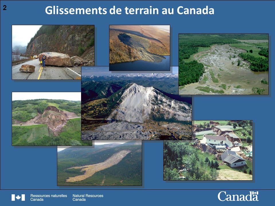Glissements de terrain au Canada
