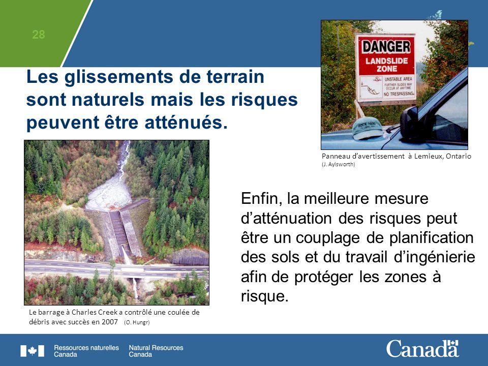 Panneau d'avertissement à Lemieux, Ontario (J. Aylsworth)