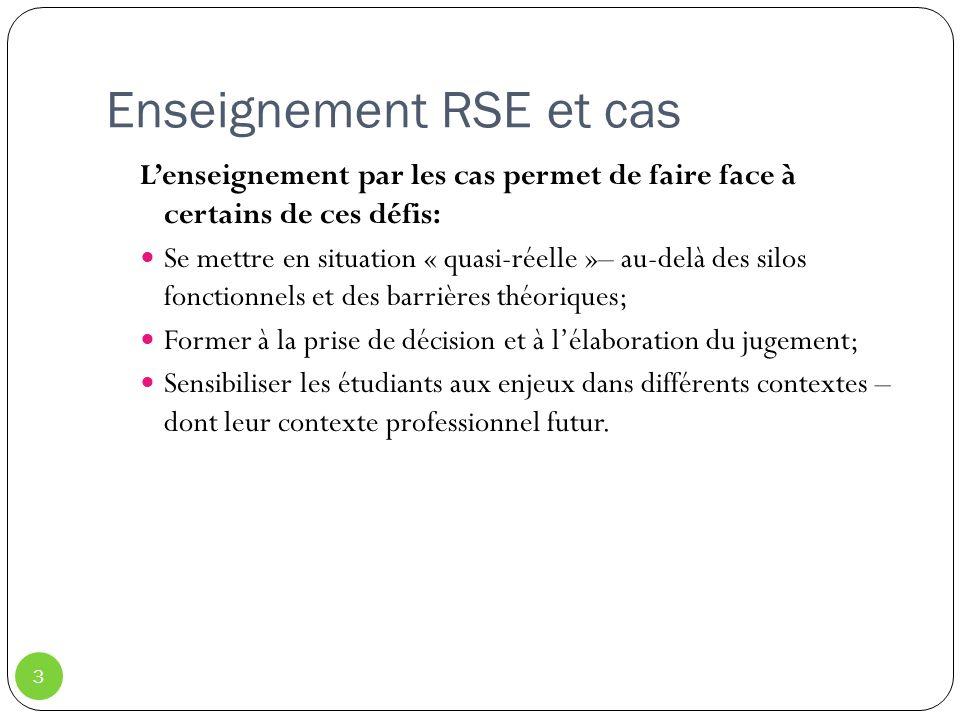 Enseignement RSE et cas