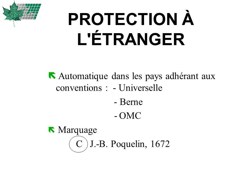 PROTECTION À L ÉTRANGER