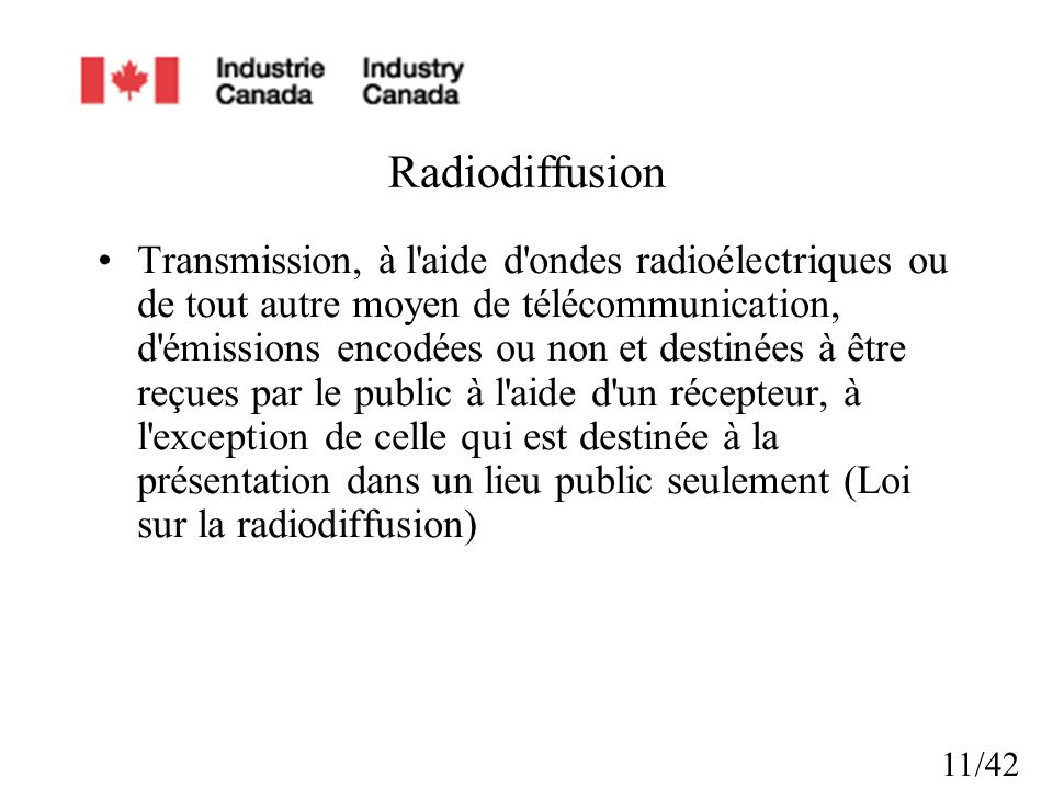 Radiodiffusion