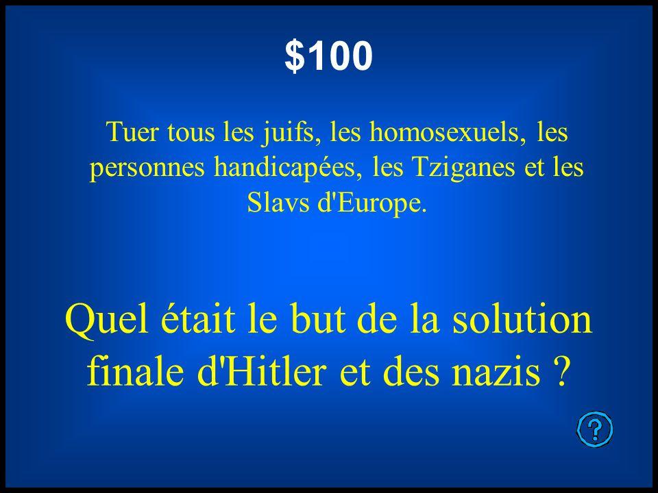 Quel était le but de la solution finale d Hitler et des nazis