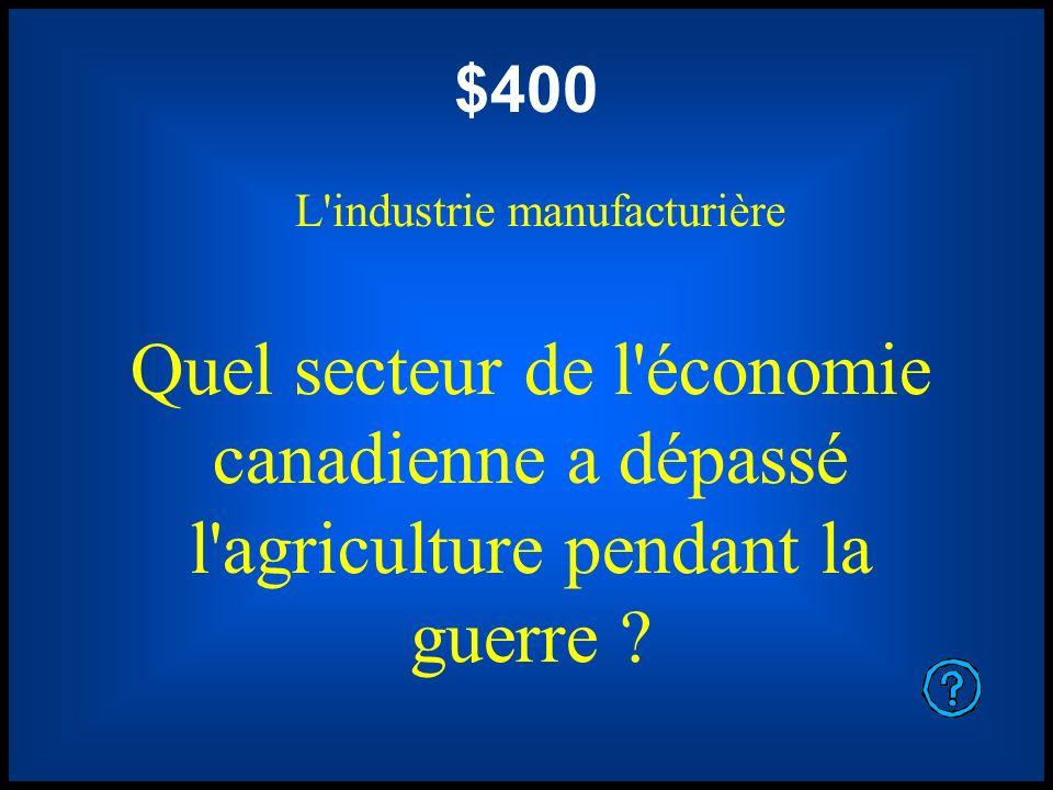 L industrie manufacturière