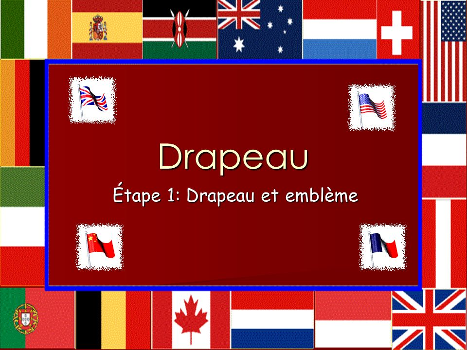 Étape 1: Drapeau et emblème