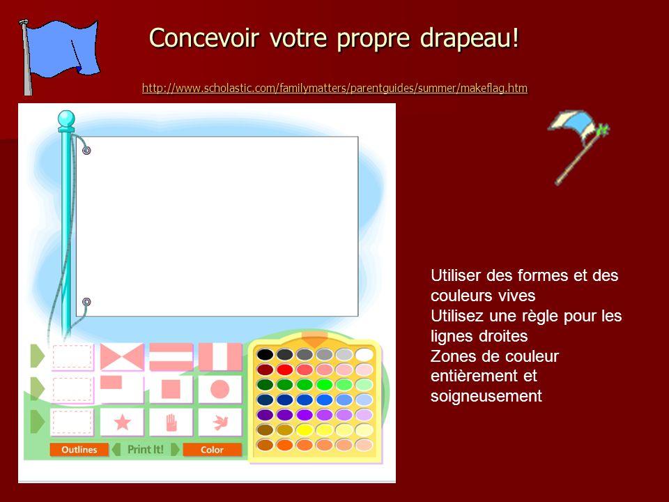 Concevoir votre propre drapeau. http://www. scholastic