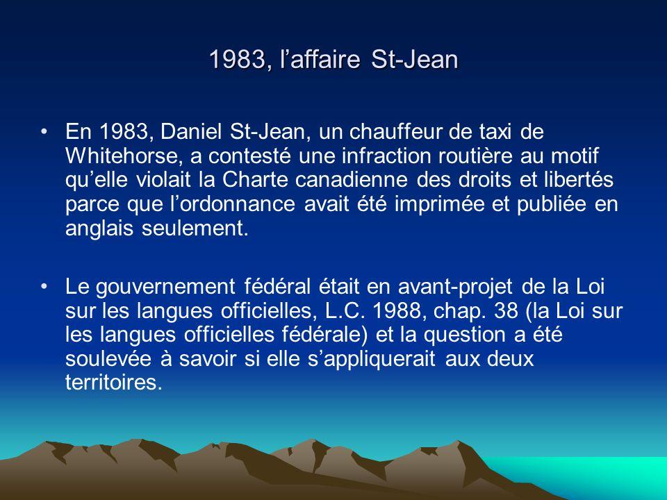 1983, l'affaire St-Jean