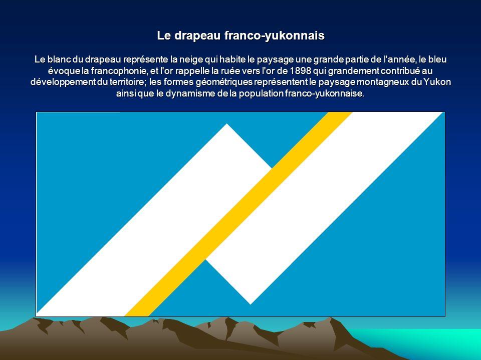 Le drapeau franco-yukonnais