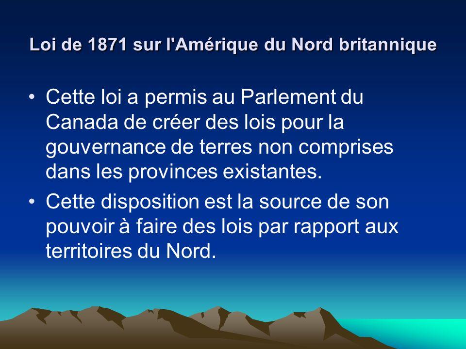Loi de 1871 sur l Amérique du Nord britannique