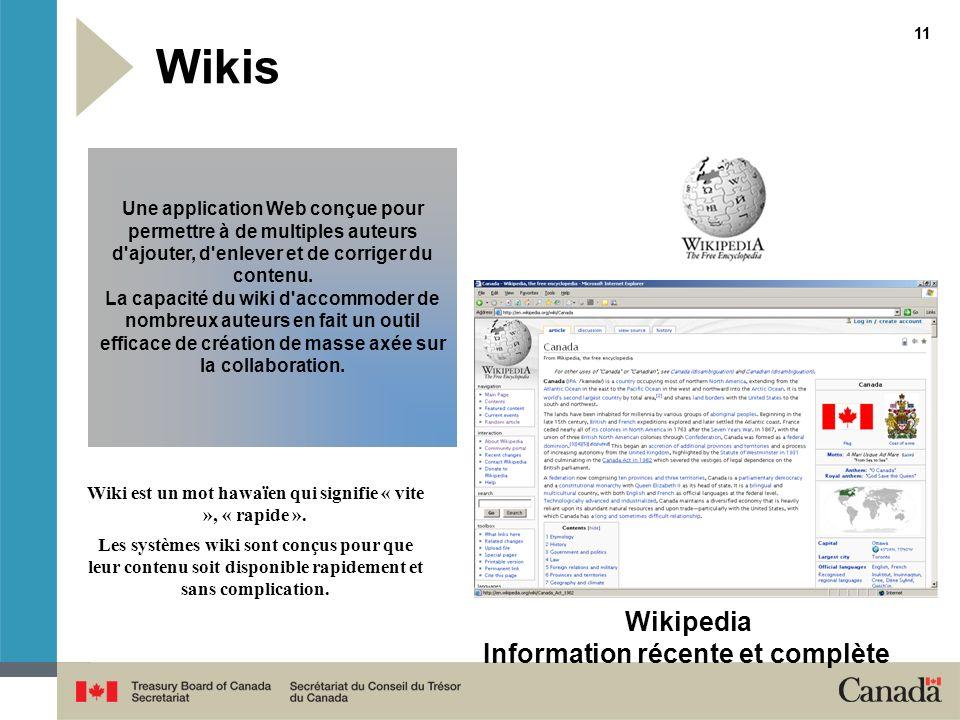 Wikis Wikipedia Information récente et complète