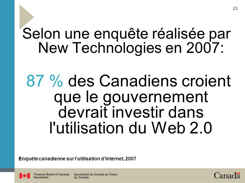 Enquête canadienne sur l'utilisation d'Internet, 2007