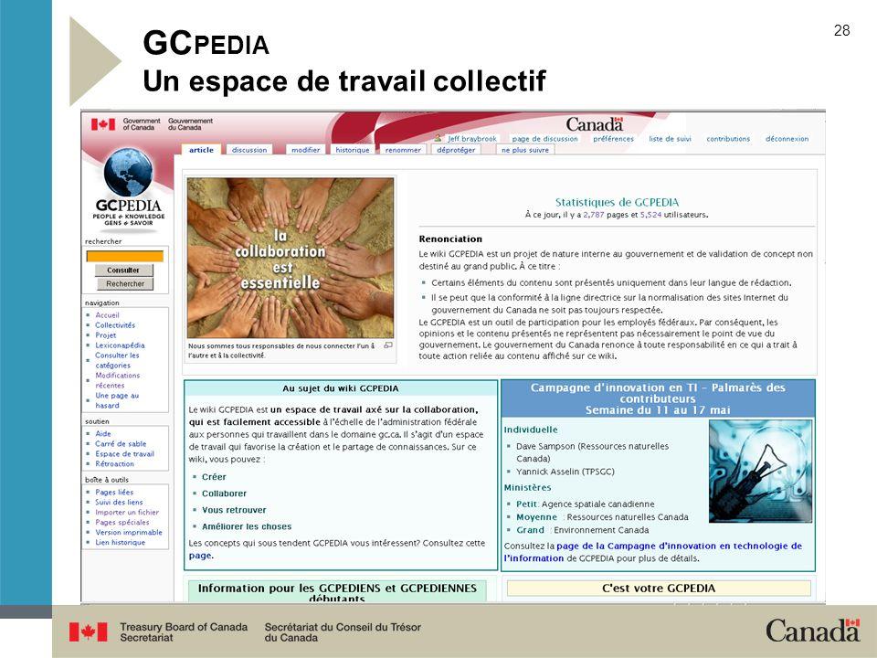 GCPEDIA Un espace de travail collectif