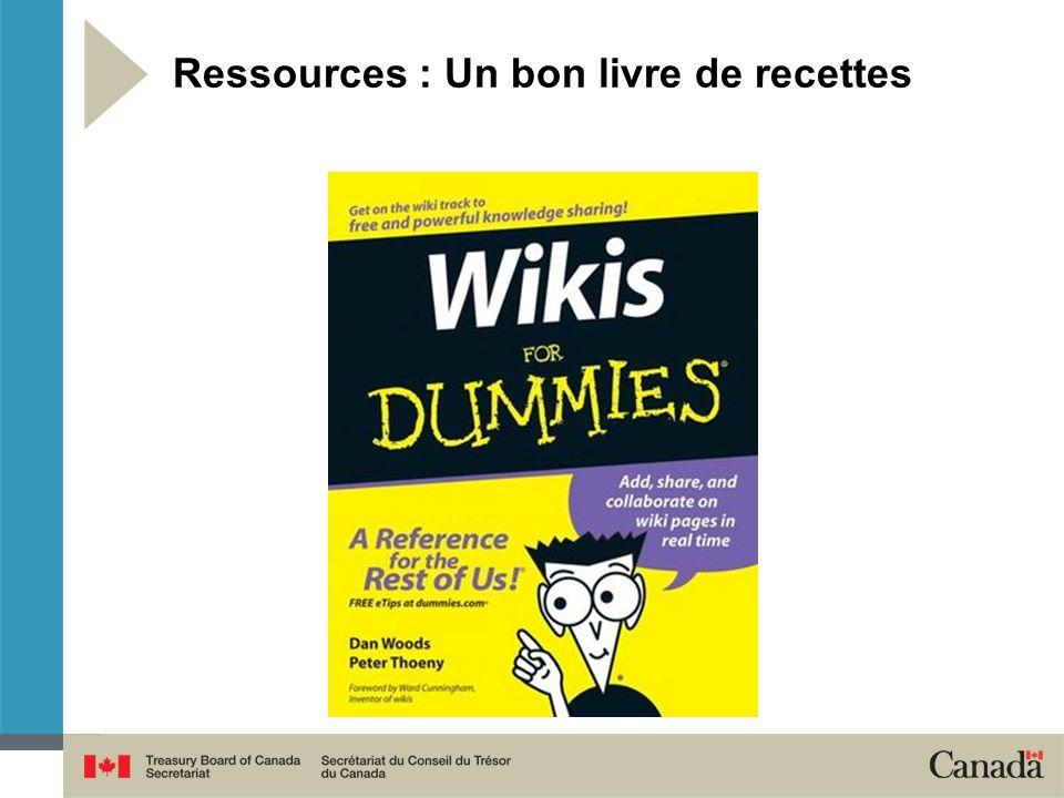 Ressources : Un bon livre de recettes